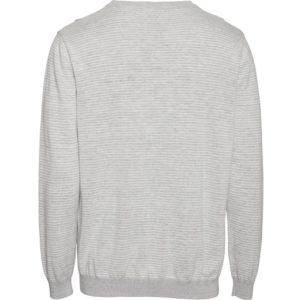 Pull à rayures gris